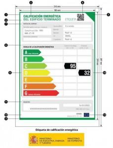 Etiqueta certificacion energetica